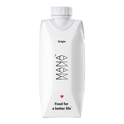 MANA Drink | Origin Mahlzeitenersatz - 12 x 400 kcal in 330ml Flaschen - Kein GMO Vegan Trinkbereit Frühstück - Laktosefrei