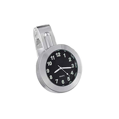 PULABO billigWasserdichte Motorrad Uhr - Universal 7/8 '1' wasserdichte Motorrad Lenkerhalterung Uhr Schwarz UK Neu Freigegeben