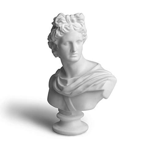 Garwor 6' Apollo Greek and Roman Mythology God of Sunlight Oracles Healing Poetry Resin Head Bust Sculpture Figurine Home Art Decor