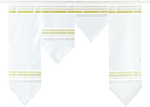 Startex Mini Surfaces, Polyester, Blanc/Vert, 30 x 100 cm