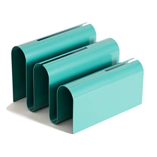 U Brands Classificador de letras de metal, acessório de mesa, coleção de arco, verde (3543A02-06)