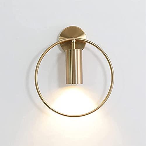 Anillo Dorado, Luz De Pared, Foco LED, Lámpara De Pared De Metal, Aplique De Pared Para Dormitorio, Sala De Estar, Iluminación Del Pasillo