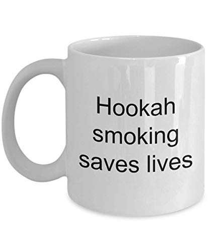 N\A Regalos para Amantes de la cachimba Fumar Salva Vidas Taza Taza de café Divertida