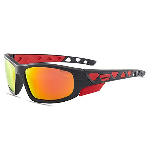 Gafas Sol Deportivas Polarizadas, Protección UV 400 Gafas Ciclismo, Bicicleta Montaña Moto, Golf Deportes Al Aire Libre para Hombres Mujeres, Marco, 1
