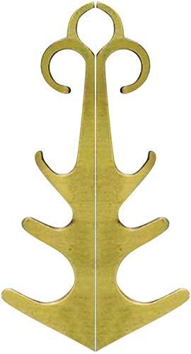 Corkscrew Abridor de botellas con gancho magnético portátil (color: dorado)