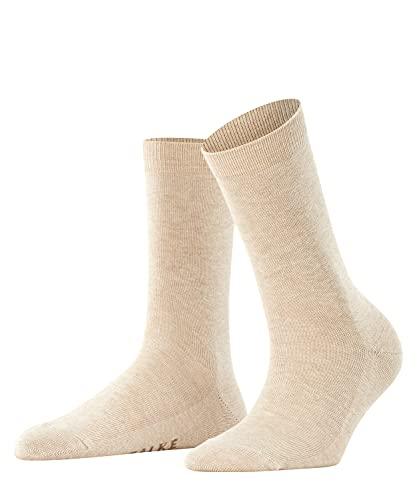 FALKE Damen Socken Family, Baumwolle, 1 Paar, Beige (Sand Melange 4659), 39-42 (UK 5.5-8 Ι US 8-10.5)