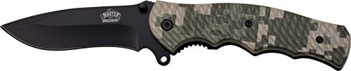 MASTER USA Taschenmesser MU-A008 Serie, Messer NYLON FIBER DIGITAL CAMO Griff, scharfes Jagdmesser, Outdoormesser 8,9 cm ROSTFREI Klinge, Klappmesser für  Angeln/ Camping