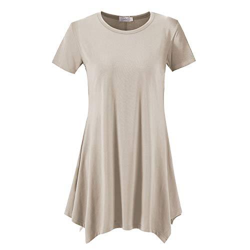 Topdress Damen Loose Fit Swing Shirt Casual Tunika Top für Leggings - Gelb - XX-Large