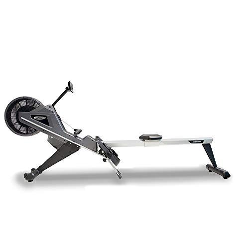 BH Fitness LK5000 ROWER R500 Rudergerät Rudermaschine, 16 Intensitätsstufen, LCD Bildschirm, Wattprogramme, Mehrfarbig (schwarz/weiß)