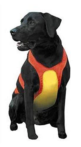 Remington Protetor de peito médio laranja para cães