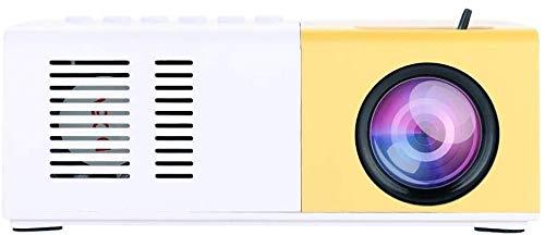 Mini Projector, 1500 Lumens Portable Video Projector LED Ondersteuning HD 1080p HDMI USB VGA AV SD Cinema Projector Compatibel met de iPhone iPad Smartphone TV Xbox PC. (Geel) dljyy (Color : Yellow)