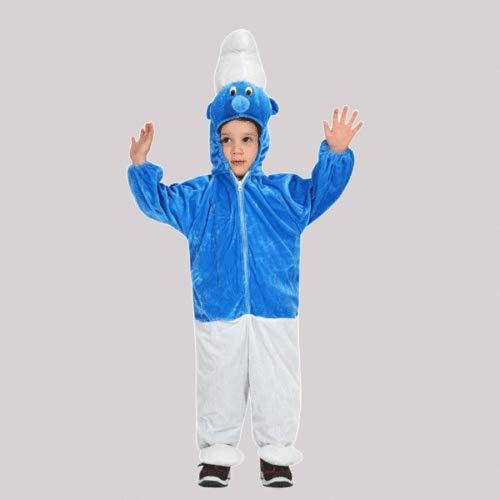 PEGASUS SRL PUFFO PUFFETTO Costume Vestito Carnevale Bimbo Neonato Baby Folletto Blu' - tg. 0/1 Anni Scatola