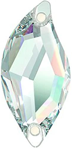 Swarovski Pierres de Strass au Point de EleHommests Diamond Leaf 30.0 x 14.0mm (Crystal), 36 Pièces