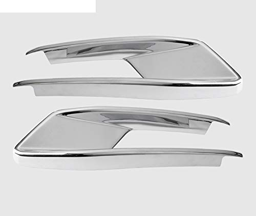 Car Styling Head Front Bumper Spoiler Air Knife Fog Light Decoration Frame Covers Stickers Trim Fit For Audi Q2 Q2l Auto Accessories (Color : Silver)