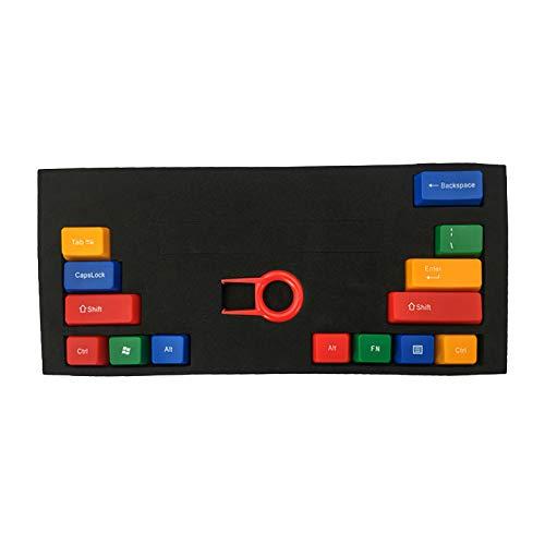 Feicuan 14 Tecla Function Keys Cap Cover Enter Shift Ctrl Reemplazo Keycap Universal para Teclado mecánico - Colorful C