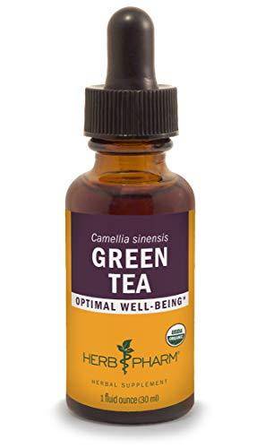 Herb Pharm Certified Organic Green Tea Liquid Extract, Organic Cane Alcohol, 1 Ounce