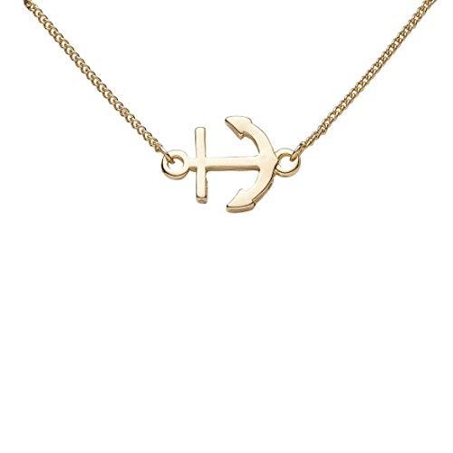 Draeger Paris – Pulsera de fantasía de metal dorado con ancla marina – Sin níquel – 20 cm – Ideal para un regalo personalizado y diseño