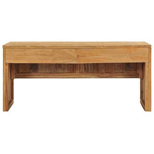 Bulufree Mueble de TV de Teca práctico Familiar, Mueble de TV de Estilo Colonial Retro 100 x 35 x 45 cm (Largo x Ancho x Alto)