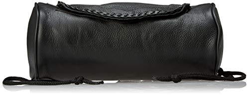 Genuine Soft Leather Universal Motorcycle Tool Bag w/Braid Trim