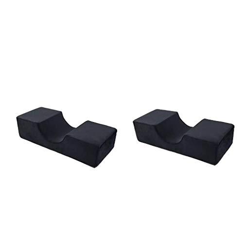 lahomia 2X U-Shaped Eyelash Extension Pillows Memory Foam Cervical Cushion Make Up - Black, 50 x 20 x 12.5cm