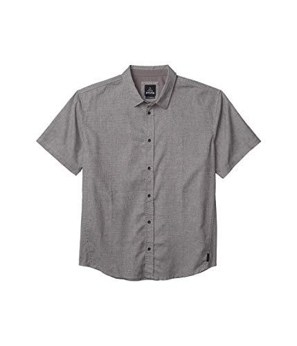 prAna Mens Grixson Shirt, Gravel, Small -  M11202530-GRA-S