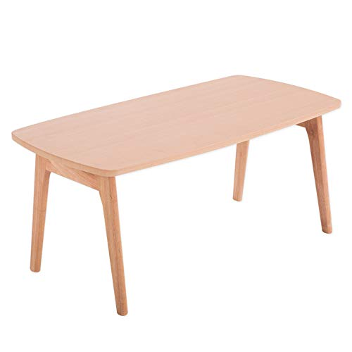 End Coffee Table 2 Colors Rectangle Small Wood Side Sofa Wooden Folding Table Design Furniture for Living Room Bedroom(No Assembly Required),Natural Color