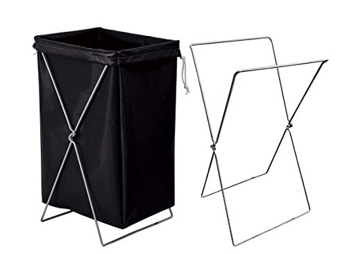 APQ Hamper Stand 18 x 14 x 32. X-Frame Portable Folding Bag Holder Stand 30-55 Gallon Bags Holder for Laundry, Backyard, Toy Storage, Bathroom and Kitchen.