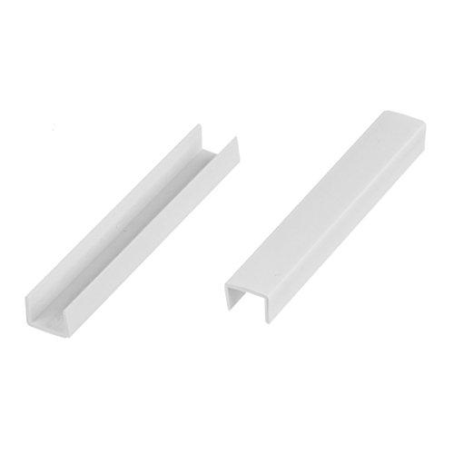 HOLZBRINK Endstück Sockelblende Sockelleiste für Einbauküche 150mm Höhe WEISS Hochglanz - HBK15