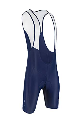 Przewalski Men's 3D Padded Cycling Bike Bib Shorts, Excellent Performance and Better Fit (XL, Blue)