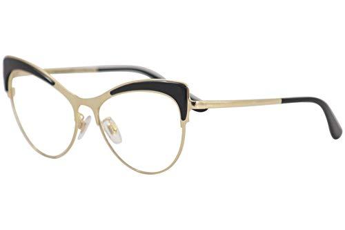 Brand: Dolce & Gabbana Model: DG1308 Style: Full Rim Cat Eye Frame/Temple Color: Black/Gold - 501 Size: Lens-55 Bridge-16 B-Vertical Height-44.8 ED-Effective Diameter-61.2 Temple-140mm Gender: Women's Frame Material: Metal Geofit: Global Base: Base 4...
