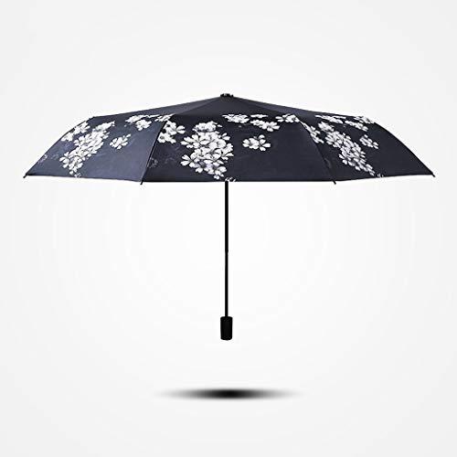 Unbekannt FEI Cereza Paraguas Plegable De Sol Femenino Versi u. Oacute; N Coreana De Doble USO Schutz Solar Uv Paraguas