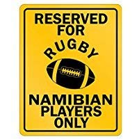 HSSS Schild mit Aufschrift Reserved for Rugby Namibia Only