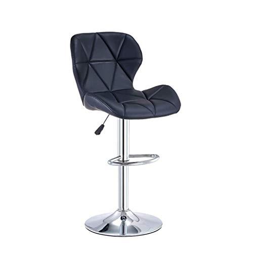 Barhocker, Küchenhocker Barhocker Barhocker Stuhl, Verstellbare Edelstahl Dining Chair mit Rückseite PU-Leder Restaurant Hocker Kücheninsel Zähler Barhocker (Farbe: D)