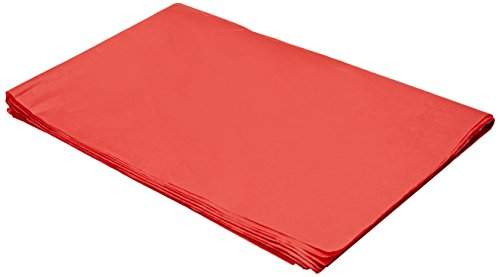Sadipal 11129 - Bolsa con 25 hojas de papel seda, 51 x 76, color rojo