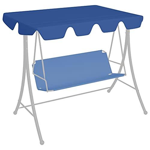 Blu Materiale: Tessuto (100% poliestere) con rivestimento in PVC Baldacchino per Dondolo da Giardino Blu 150/130x70/105 cm