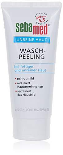 SEBAMED Unreine Haut Wasch-Peeling 100 ml, reinigt die Haut mild, bekämpft Hautunreinheiten und ist besonders gut geeignet bei fettiger und zu Unreinheiten neigender Haut