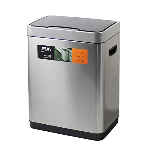 JAVA Vegas センサービン ステンレス ゴミ箱 モーションセンサー搭載 インナーボックス付き 20L (30リットルゴミ袋対応) メタリックシルバー (選べる4色)