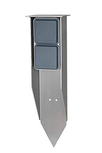 Jehoka E-Spies 400 uitgerust met Berker schakelaarprogramma Berker dubbel stopcontact (grijs)