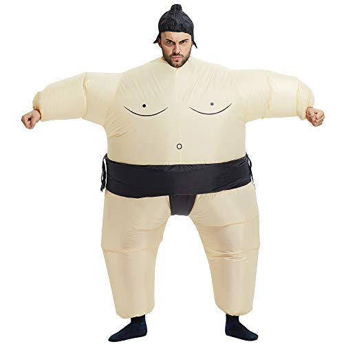 TOLOCO Inflatable Adults Sumo Wrestler Wrestling Suits Halloween Costume,...