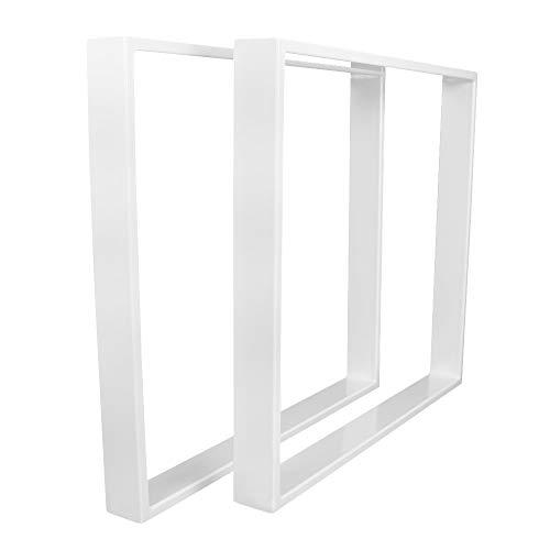 KTC Tec TR80w-900 Tafelonderstel, wit, brede tafelonderstel, tafelonderstel, onderstel, glijdenframe (1 paar)