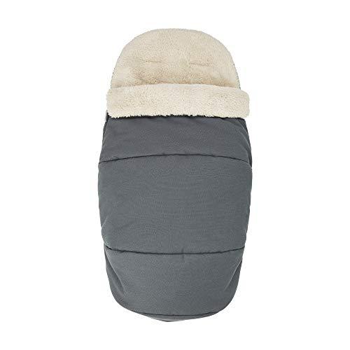 Maxi-Cosi kuschelig weicher 2-in-1 Fußsack, geeignet für alle Kinderwagen, auch als Sitzpolster verwendbar, grau