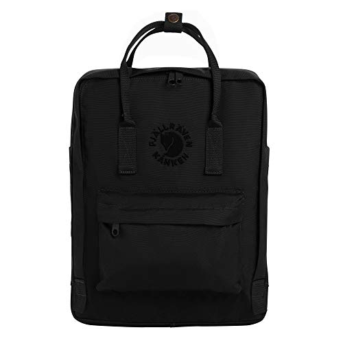 Fjällräven Re-Kånken Unisex Outdoor Hiking Backpack 23548-550 38 x 27 x 13 cm Black
