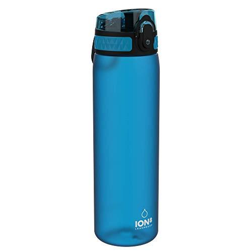 Ion8 Botella Agua Sin Fugas, Sin BPA, 600ml, Azul