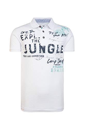 Camp David Herren Poloshirt im Vintage Style