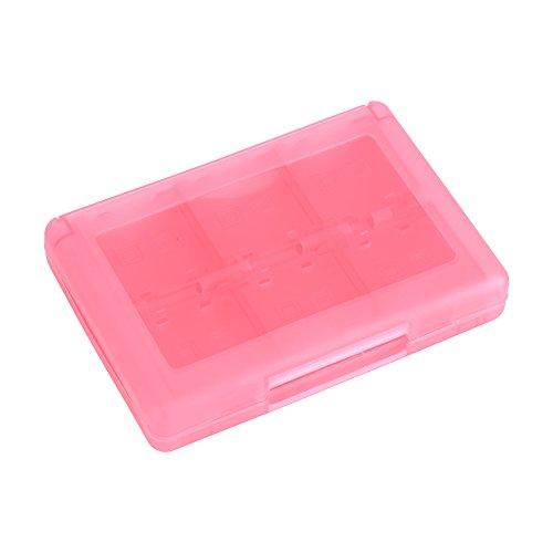 Estuche para Tarjetas de Juego - 28 en 1 PP Caja de Almacenamiento de Cartuchos de plástico para Estuches para Tarjetas(Rosado)