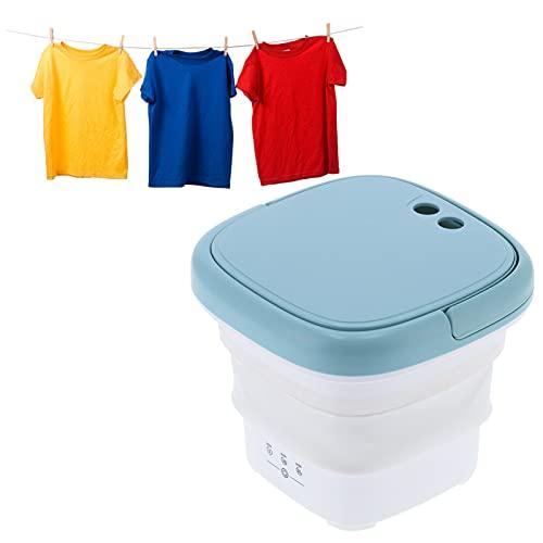 lyrlody - Mini lavadora plegable, capacidad 4,5 l, lavadora, portátil, mini lavadora, portátil, para ropa interior, ropa de bebé, viaje, camping, color blanco y azul