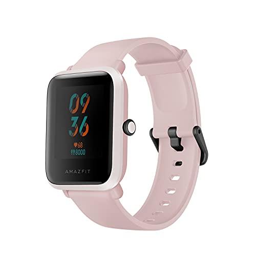 Amazfit Bip S Smartwatch Reloj Inteligente Fitness Rastreador con Monitor cardíaco y Gimnasia batería útil de 40 días duración Sumergible 5 ATM Bluetooth 5.0   BLE Andriod iOS (Rosa)