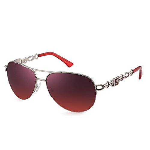 QFSLR Gafas De Sol De Aviador con Diseño De Montura Hueca: Gafas De Sol para Mujer con Protección UV400 Adecuadas para El Uso Diario Y Las Compras