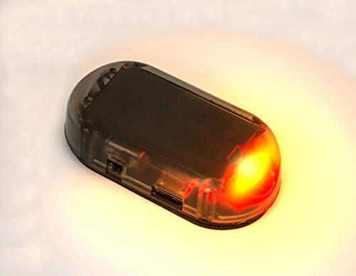 PerfecTech Car Solar Power Simulated Dummy Alarm Warning Anti-Theft LED Flashing Security Light with new USB port(Red)