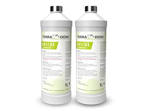 Terra Domi Rusche die Steindusche, 2x1 L, Steinreiniger für bis zu 400 m², Reinigungsmittel für saubere Wege & Plätze, Wegerein, biologisch abbaubar